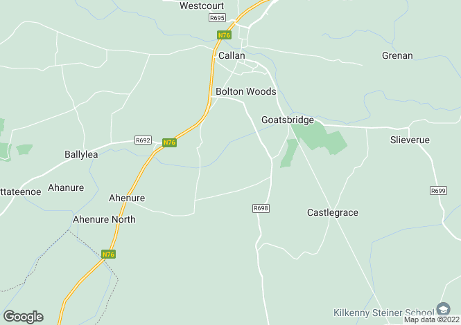 Map for Baunta, Callan, Kilkenny