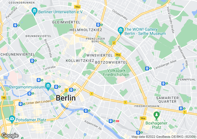 Map for Prenzlauer Berg, Berlin, Germany