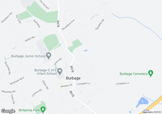 Map for Aston Lane, Burbage, Leicestershire