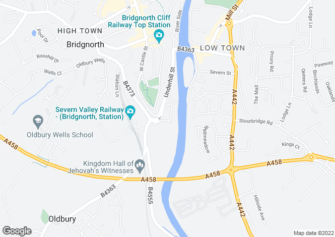 Map for 7, Kings Loade, BRIDGNORTH, Shropshire