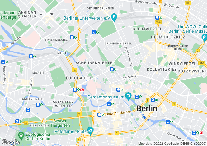 Map for Modern High End Apartments, Chausseestrabe, Berlin Mitte