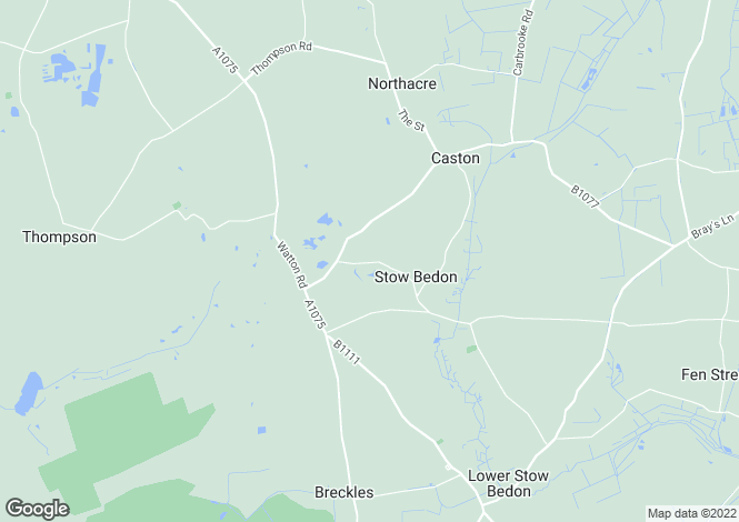 Map for Mere Road, Mere Road  Stow Bedon, NR17