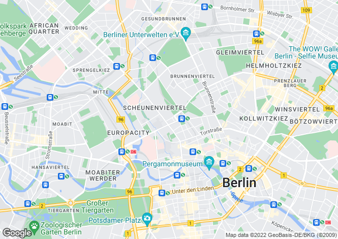 Map for Mitte, Berlin, 10115, Germany