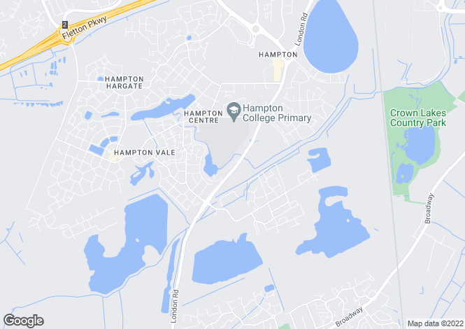 Map for The Ridge, London Road, Peterborough, Cambs, PE7
