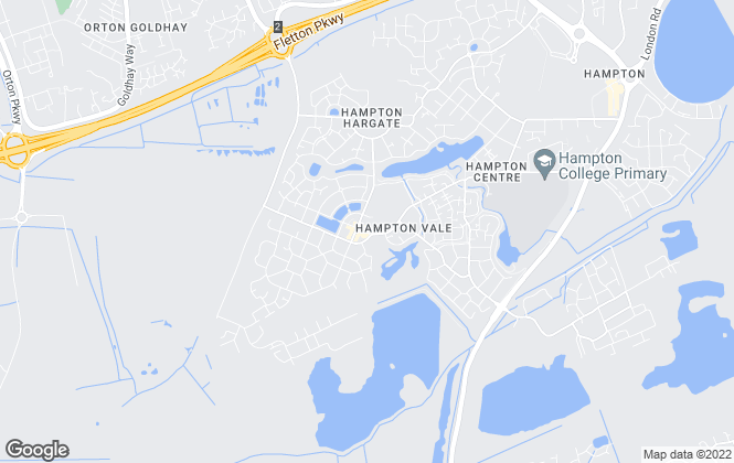Map for Connells Lettings, Hampton