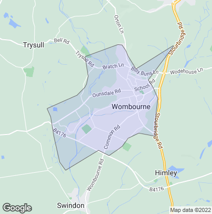 Map of property in Wombourne