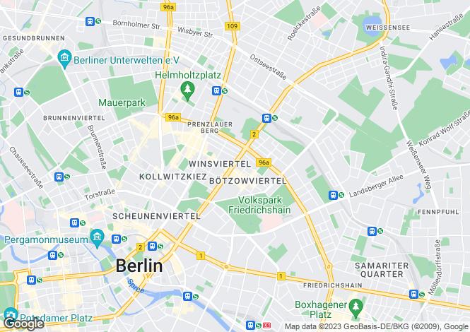 Map for Greifswalder Strasse, Berlin, Berlin, 10405, Germany