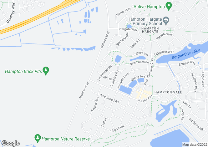 Map for Azure, Hampton Vale, PE7