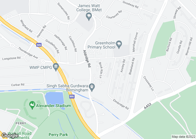 Map for Halfway Close, Great Barr, Birmingham, West Midlands