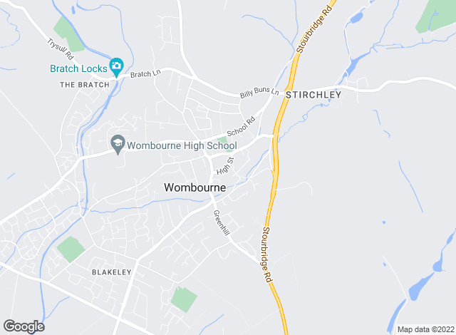 Map for Berriman Eaton, Wombourne