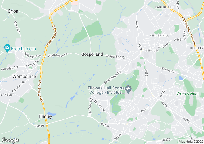 Map for 2 Wood Farm Barns, Gospel End Road, Sedgley, Dudley, West Midlands