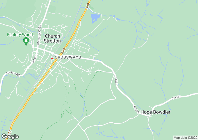 Map for Woodbury House, Hazler Road, CHURCH STRETTON, SY6 7AF