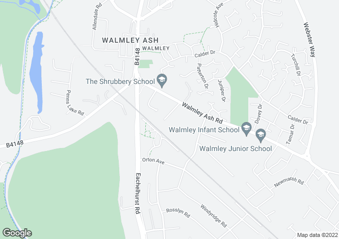 Map for Penns Wood Drive, Walmley, B76 1HZ