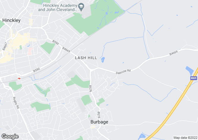 Map for Sapcote Road, Burbage, Hinckley LE10