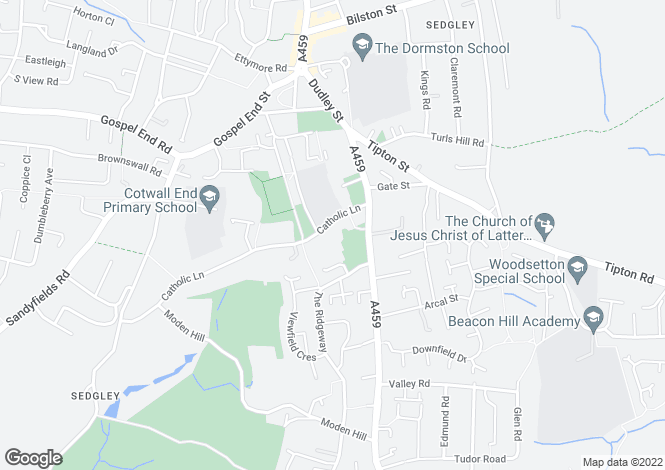 Map for 17 Catholic Lane, Sedgley, Dudley, West Midlands