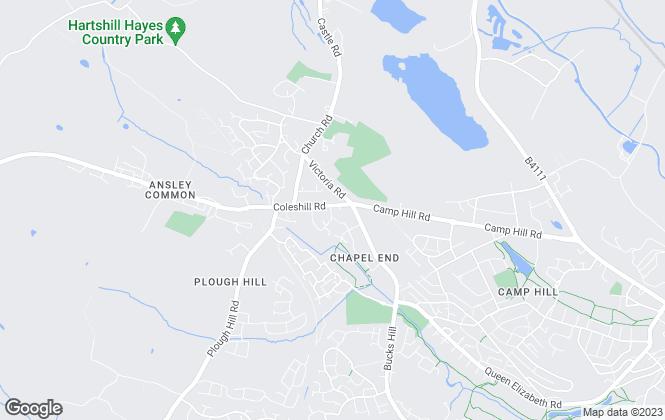 Map for Longshoot Properties, Nuneaton
