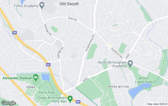 Map for Amity Properties, Kingstanding, Birmingham