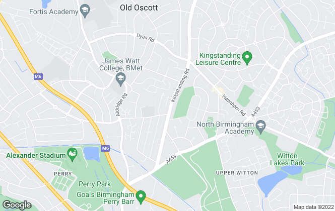 Map for Amity Properties, Perry Barr, Birmingham