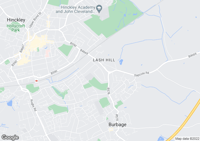 Map for Hill Rise, Burbage