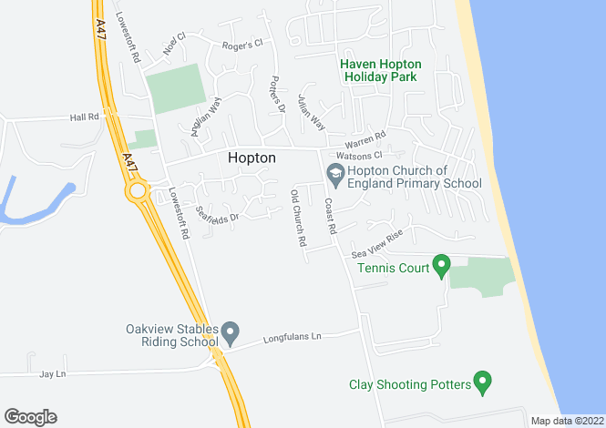 Map for Old Church Road,