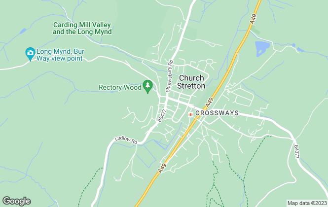 Map for Miller Evans, Church Stretton
