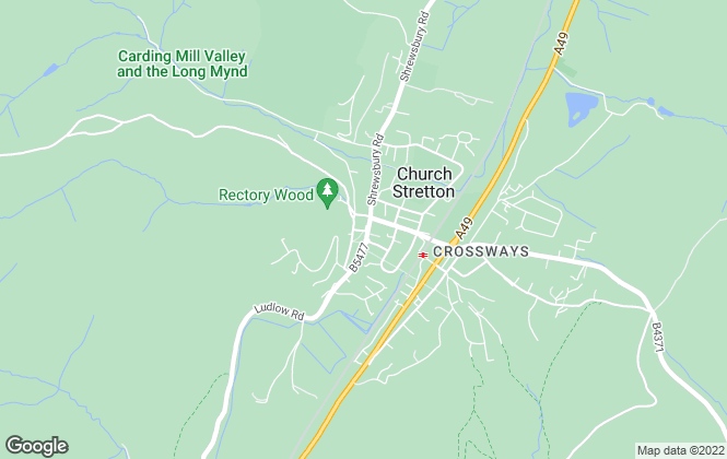 Map for Miller Evans, Church Stretton