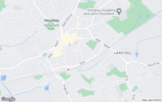 Map for One Roof Property, Hinckley