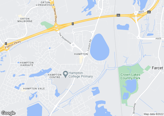 Map for Hempsted, Hampton, Peterborough