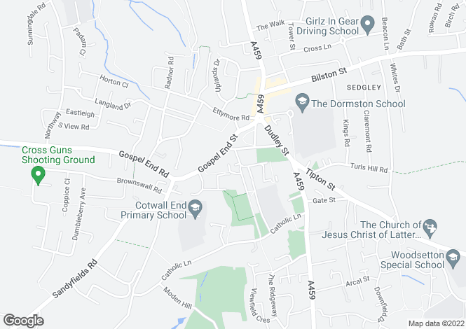 Map for The Priory, Sedgley, Dudley, West Midlands