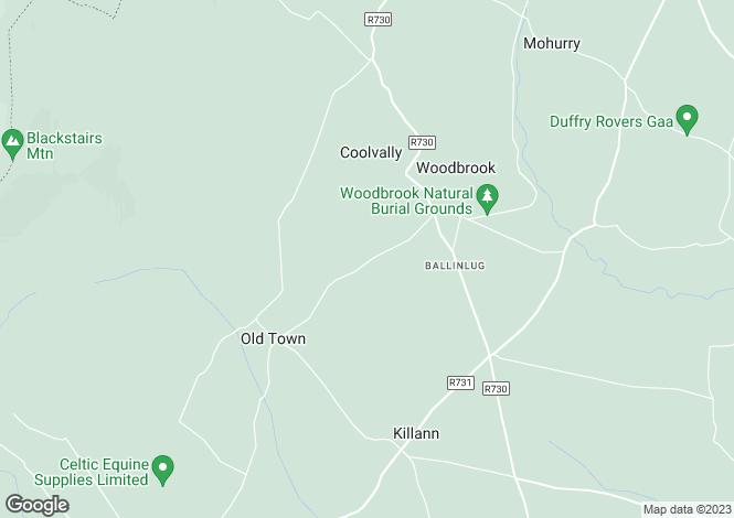 Map for Ballinlug West, Killanne, Enniscorthy, Co.Wexford