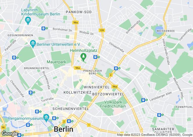 Map for Prenzlauer Berg, Berlin, 10407, Germany