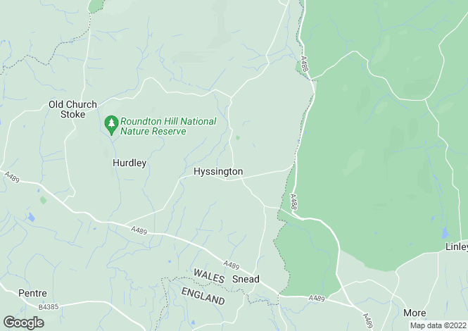 Map for The Bryn, Hyssington, Nr Shrewsbury, SY15