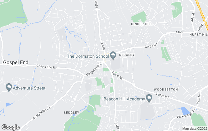 Map for Taylors Estate Agents, Sedgley
