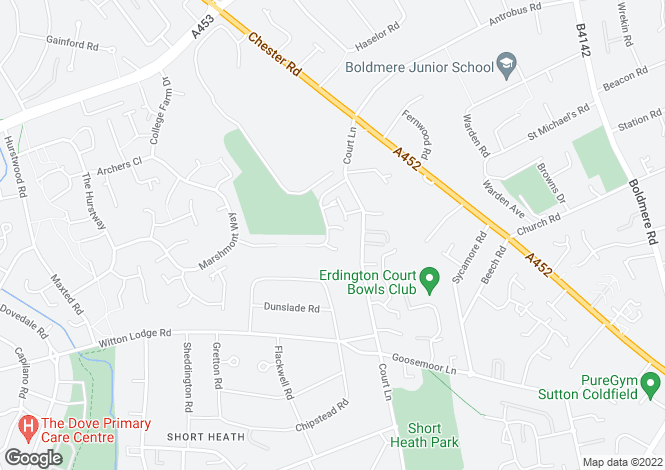 Map for Hawthorn Brook Way, Erdington, Birmingham, B23