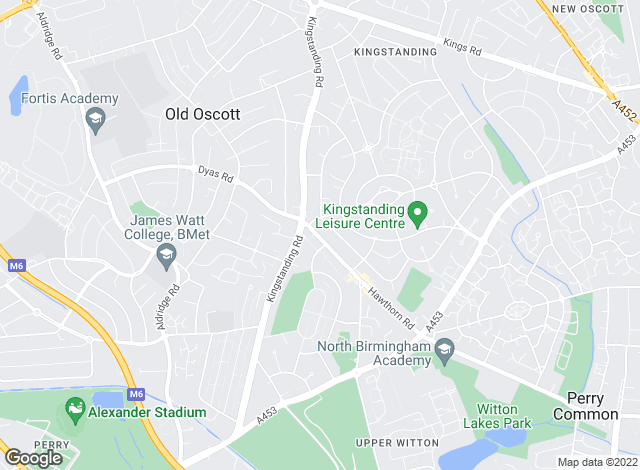 Map for Acres, Kingstanding