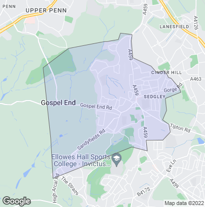 Map of property in Sedgley