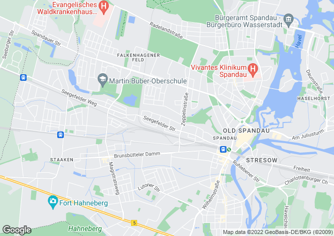 Map for An der Kappe 135, Berlin, Spandau (Berlin), Germany