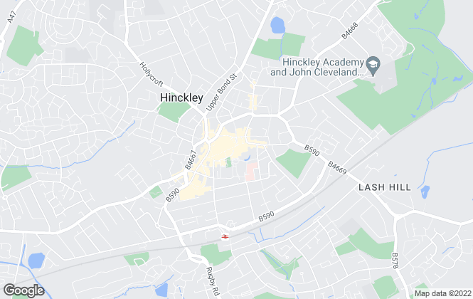 Map for Fosse House, Hinckley