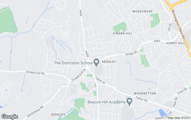 Map for Hunters, Sedgley