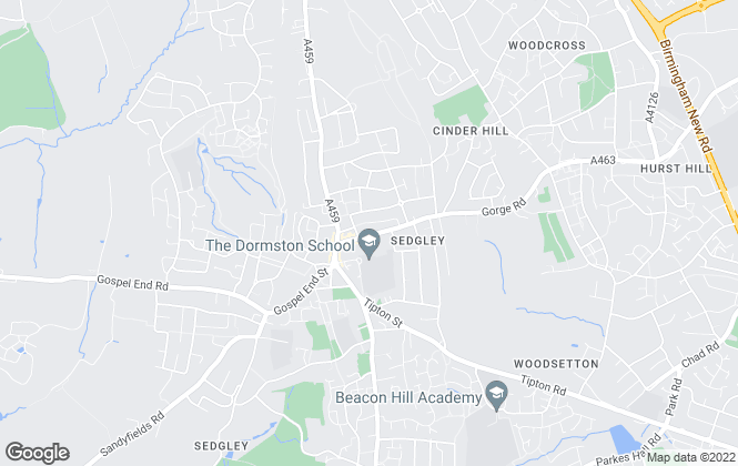 Map for Swinscoes, SEDGLEY