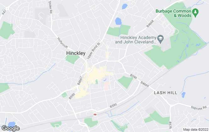 Map for Profiles Estate Agents, Hinckley - Sales