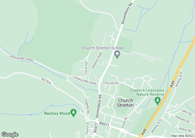 Map for Denehurst Court Shrewsbury Road Church Stretton Shropshire