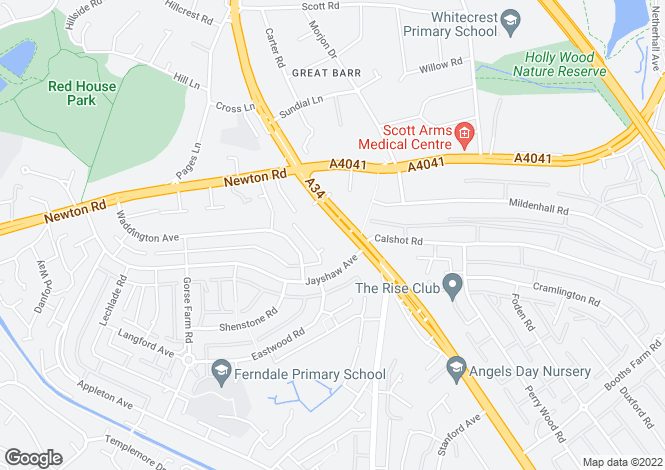 Map for Walsall Road, Great Barr, Birmingham
