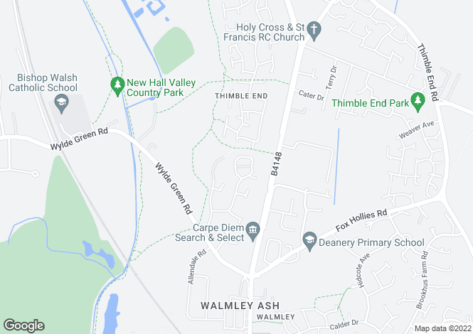 Map for Warren House Court, Warren House Walk, Walmley, B76 1TU