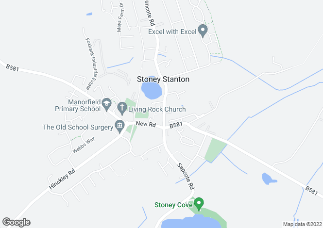 Map for Stanton House, Long Street, Stoney Stanton, Leicestershire