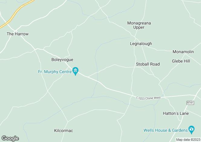 Map for Site A, Raheendarrig, Monamolin, Gorey, Co. Wexford