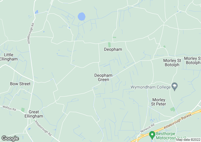 Map for Deopham, Wymondham, Norfolk