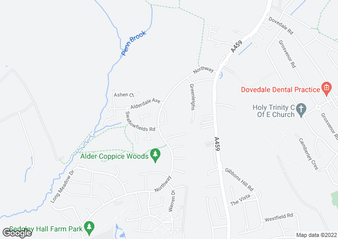 Map for 2 Alder Coppice, Sedgley, Dudley