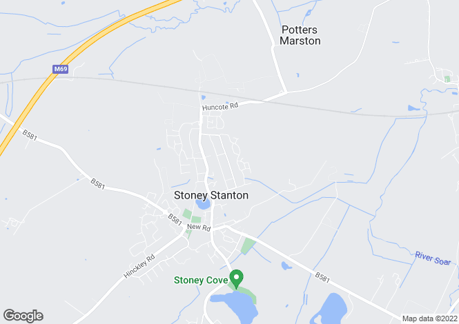 Map for The Fleet, Stoney Stanton, Leicester