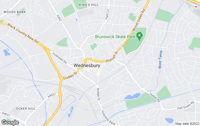 Map for Skitts Estate Agents, Wednesbury